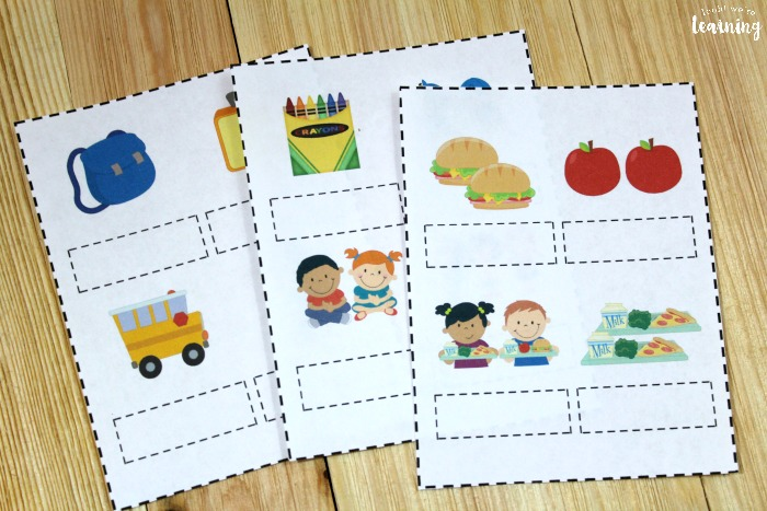 Printable Back to School Collective Noun Sorting Activity