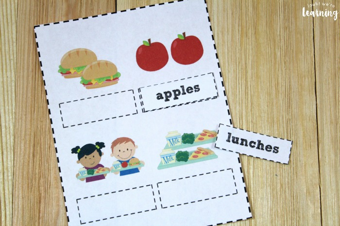 Printable Collective Noun Sorting Activity for Kids