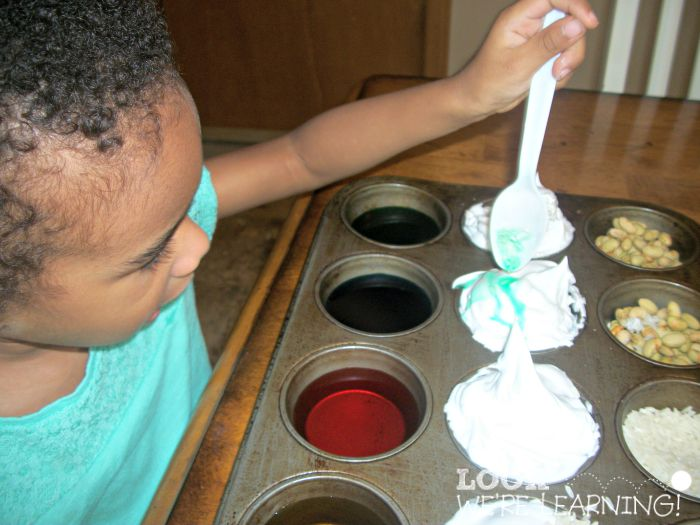 Simple Sensory Play with a Muffin Tin