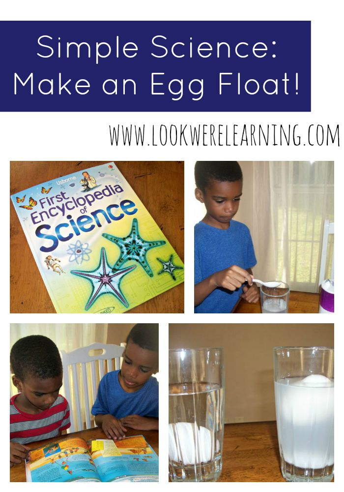 This easy Floating Egg Experiment is a neat way to teach kids about salinity and how it affects weight!