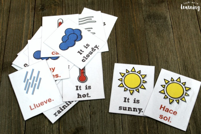 Spanish Weather Flashcards for Kids