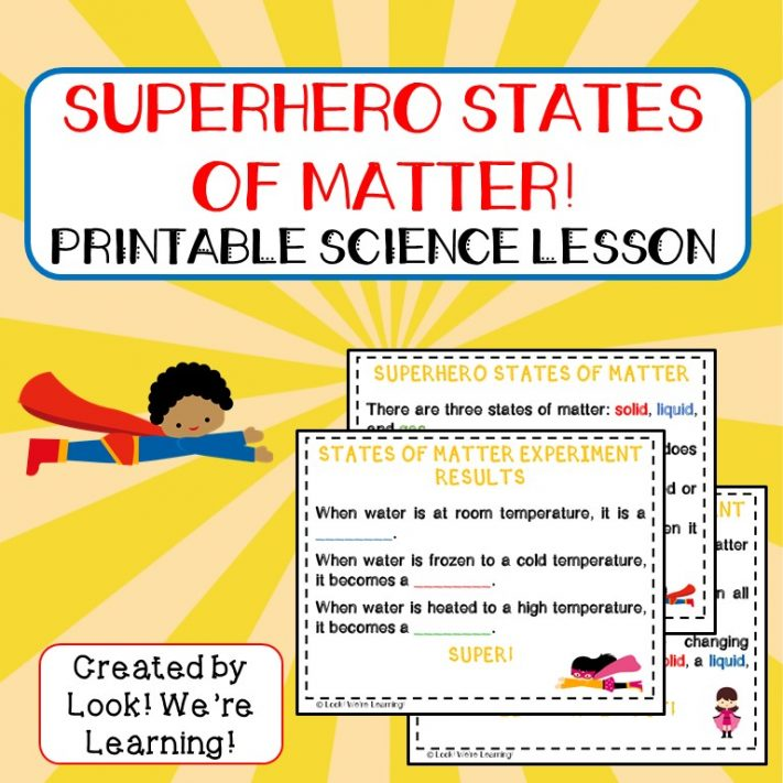 Superhero States of Matter Lesson