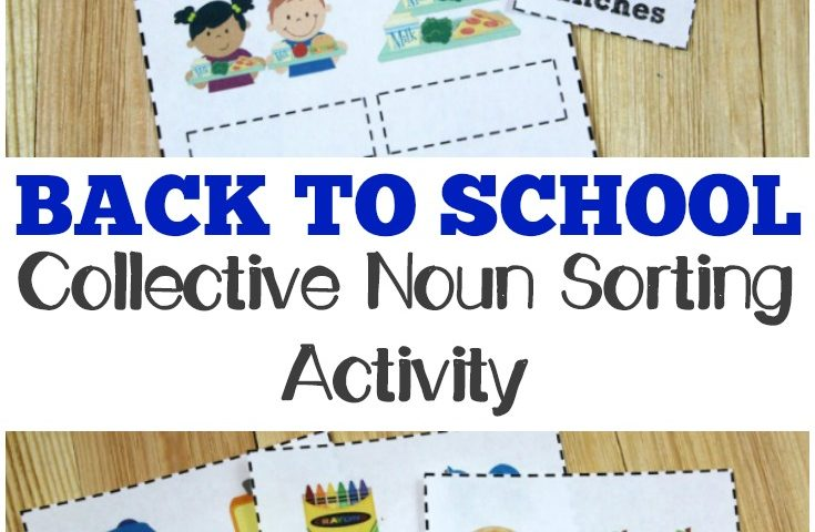 Printable Back to School Noun Practice for Second Grade