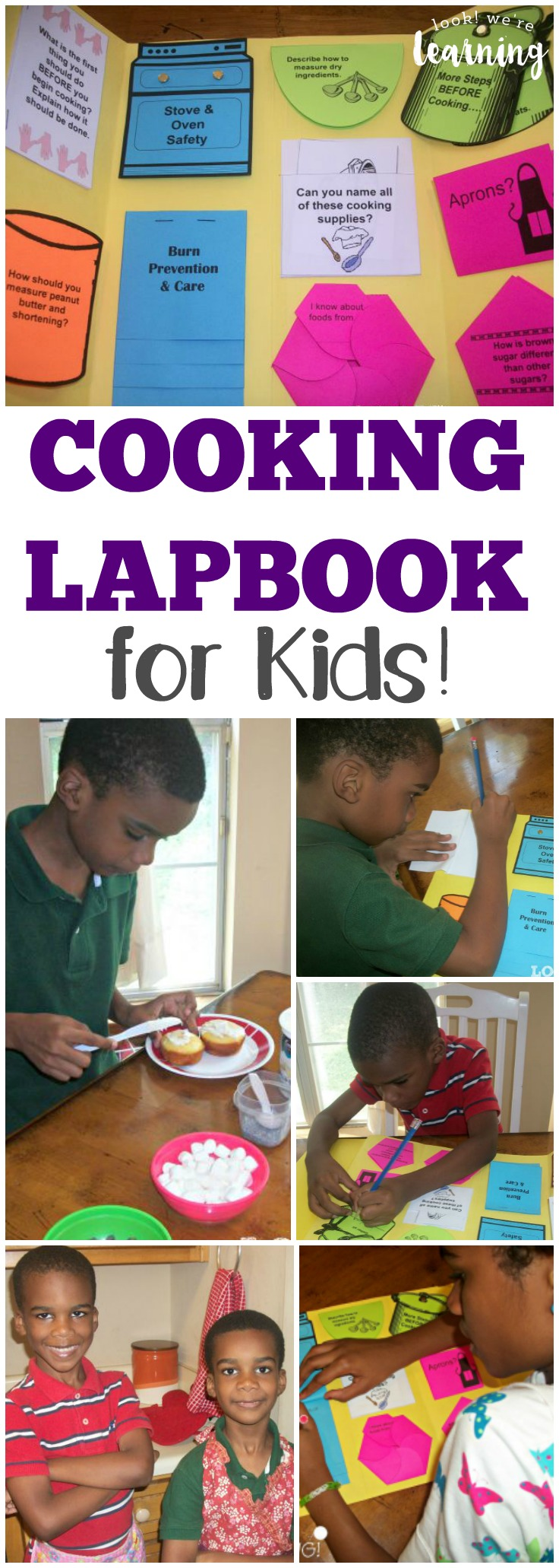 This cooking lapbook is a fun way to teach kids how to cook for themselves!
