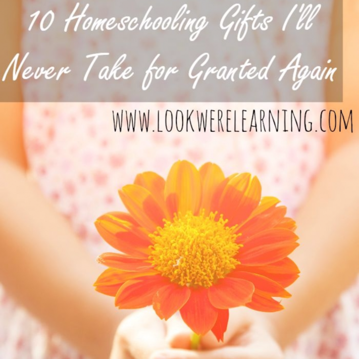 Homeschooling Gifts I'll Never Take for Granted Again - Look! We're Learning!