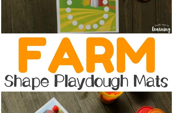Preschool Playdough Mats: Farm Shape Playdough Mats
