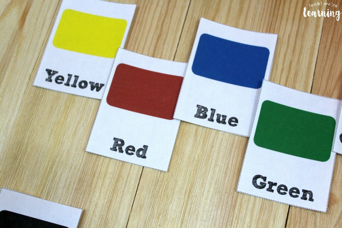 English and Spanish Color Flashcards for Kids