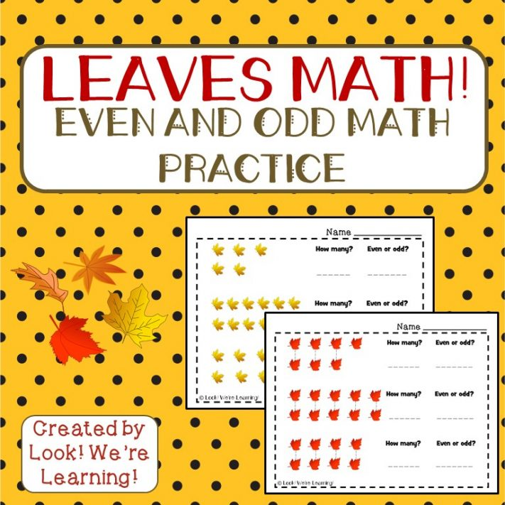 Fall Leaves Even and Odd Math Practice