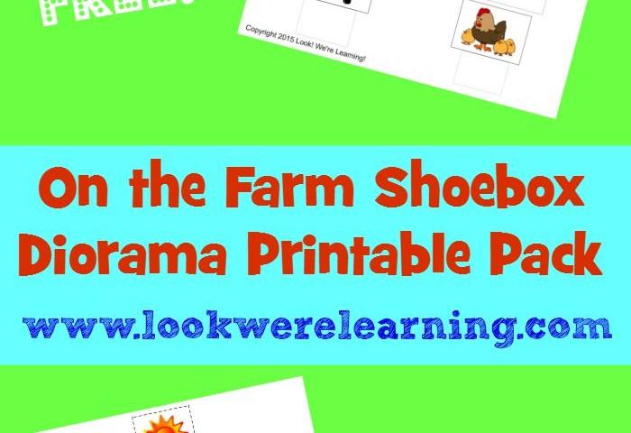 Farm Shoebox Diorama Printable Pack