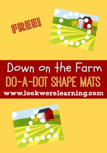 Farm Do A Dot Mats - Look! We're Learning!