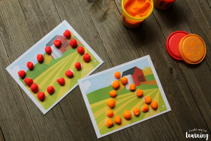 Farm Shape Playdough Mats