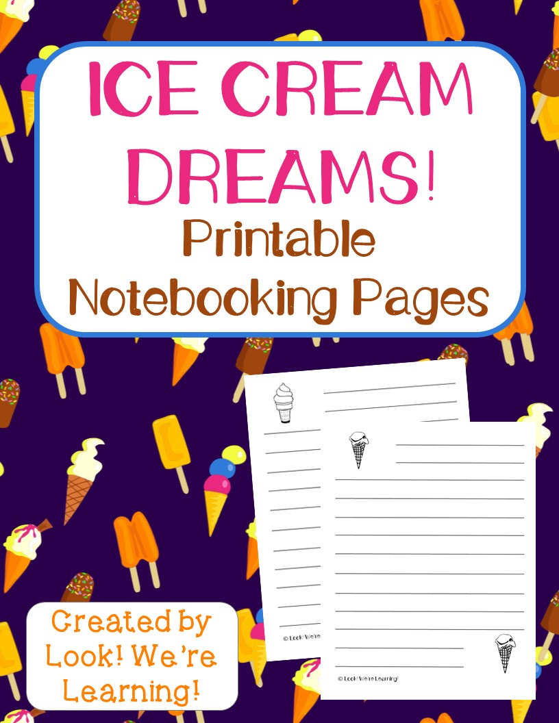 Ice Cream Notebooking Pages