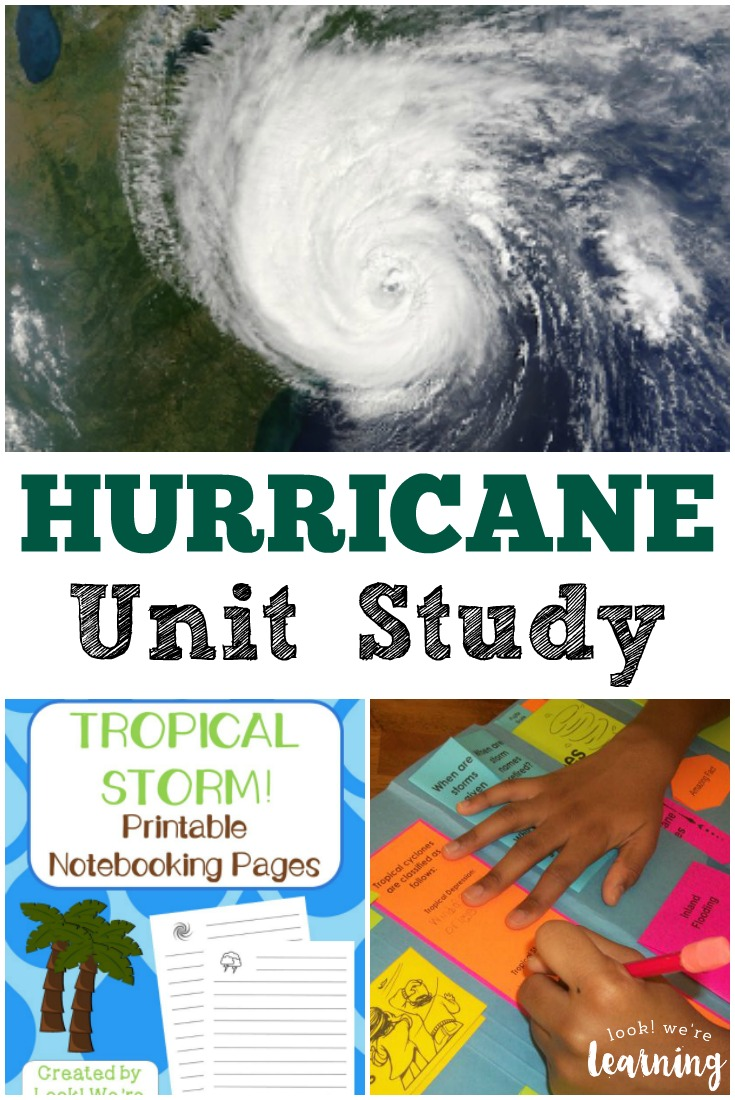 Learn about extreme summer weather with this hurricane unit study for kids!