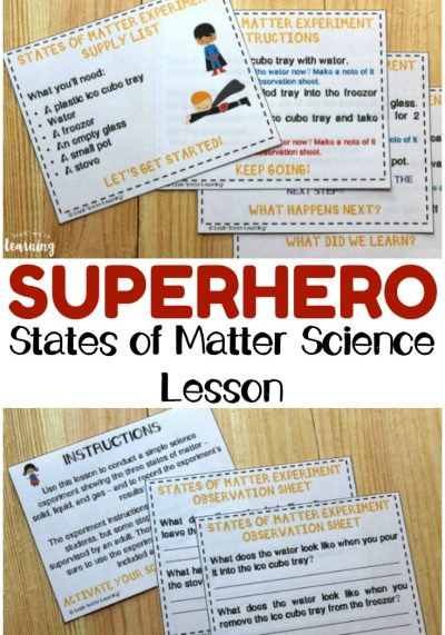 Superhero States of Matter for Second Graders Science Lesson
