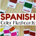 Learn how to pronounce color words in Spanish with these printable English and Spanish Color Flashcards for kids!