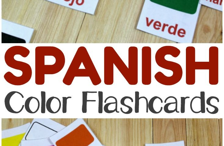 Printable Spanish Flashcards: Spanish Color Flashcards