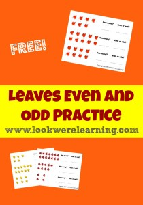 Leaves Even and Odd Practice for Second Grade - Look! We're Learning!