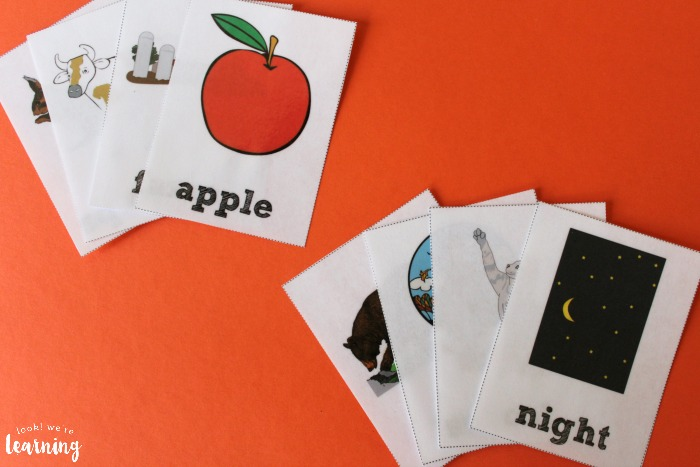 Printable Fall Sight Word Flashcards