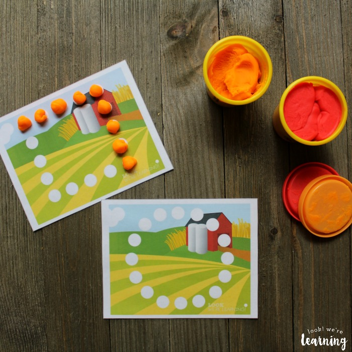 Printable Farm Playdough Shape Mats