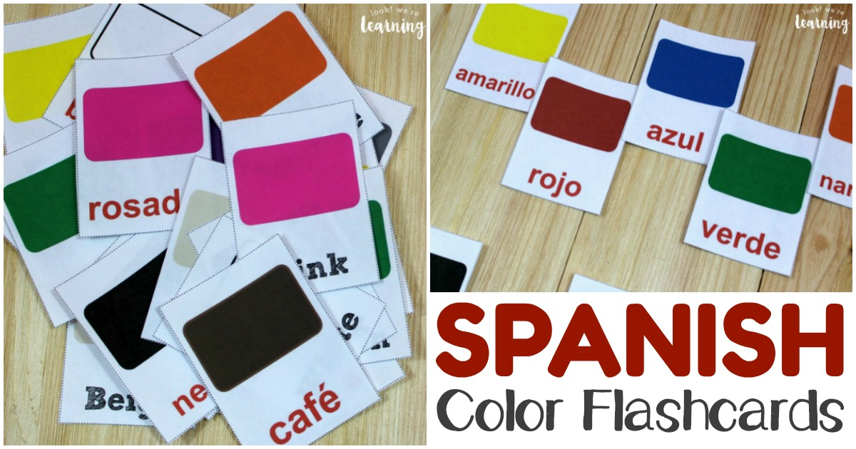 Printable Spanish Color Flashcards for Kids