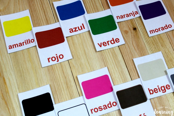 Printable Spanish Color Word Flashcards
