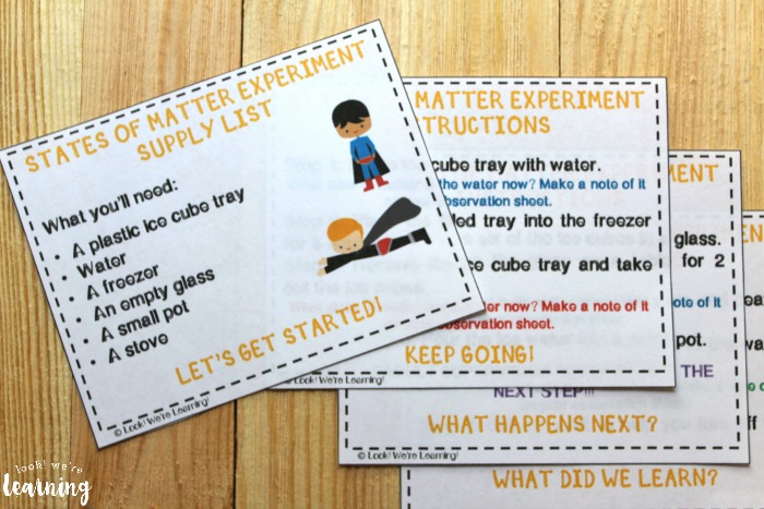 Printable States of Matter for Second Grade Lesson