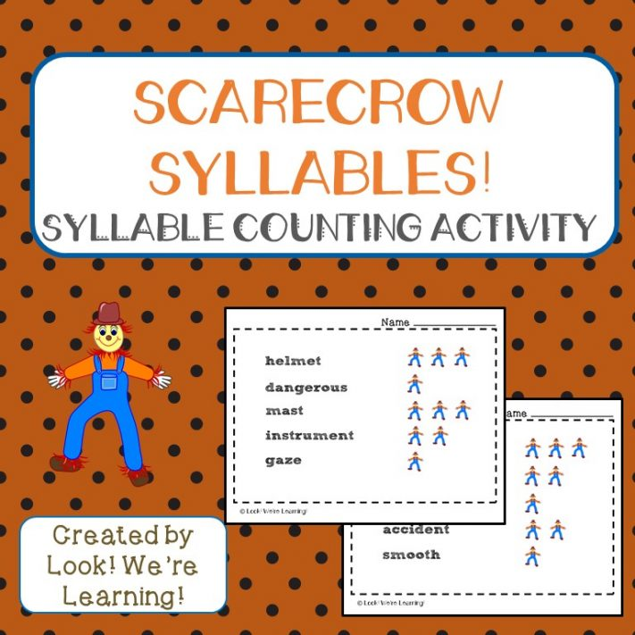 Scarecrow Syllables Syllable Counting Activity