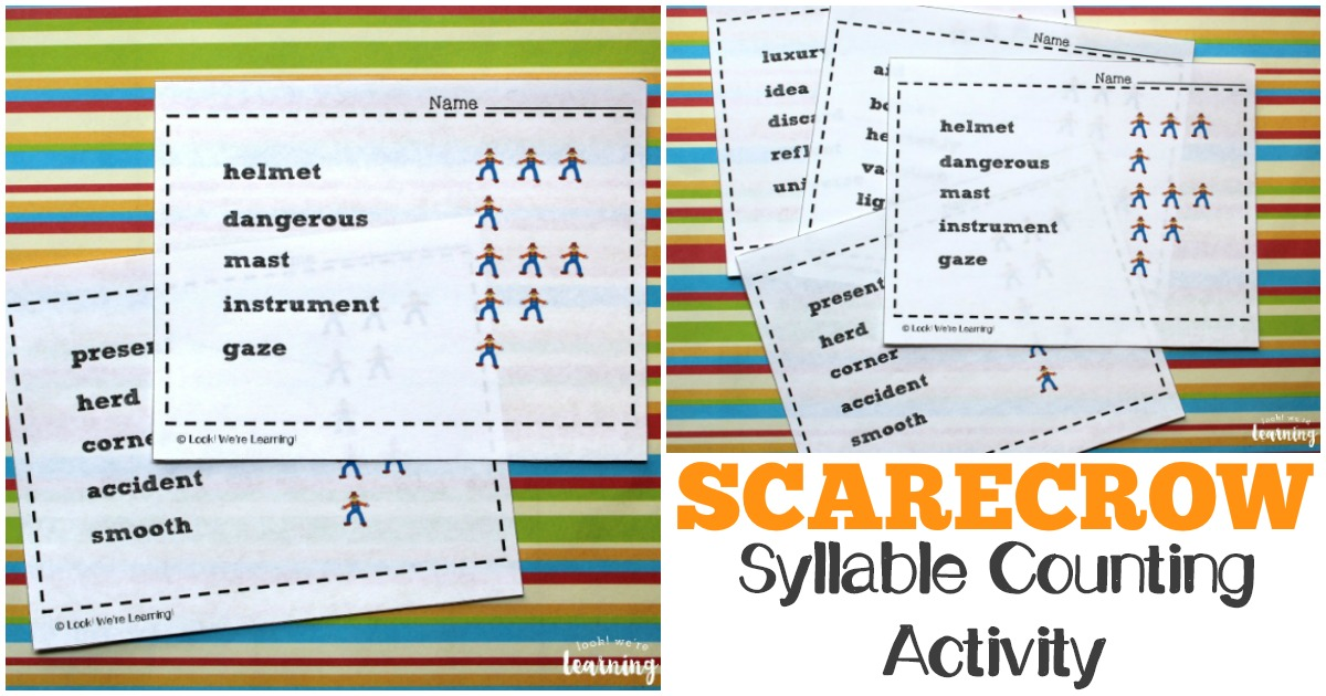 Scarecrow Themed Printable Syllable Activity