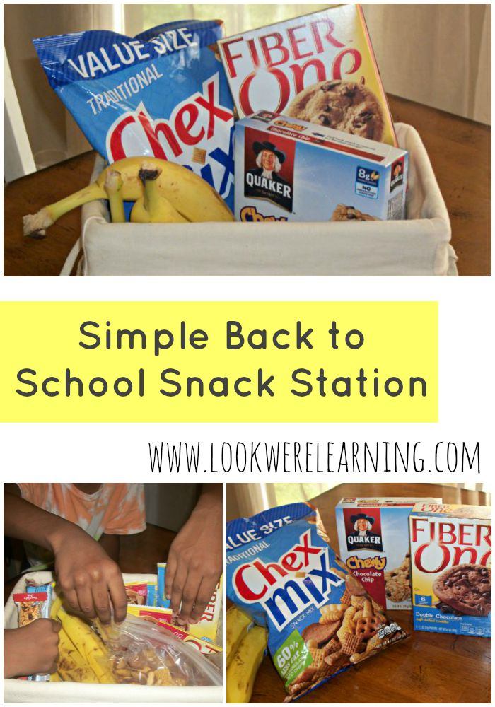 Simple Back to School Snack Station