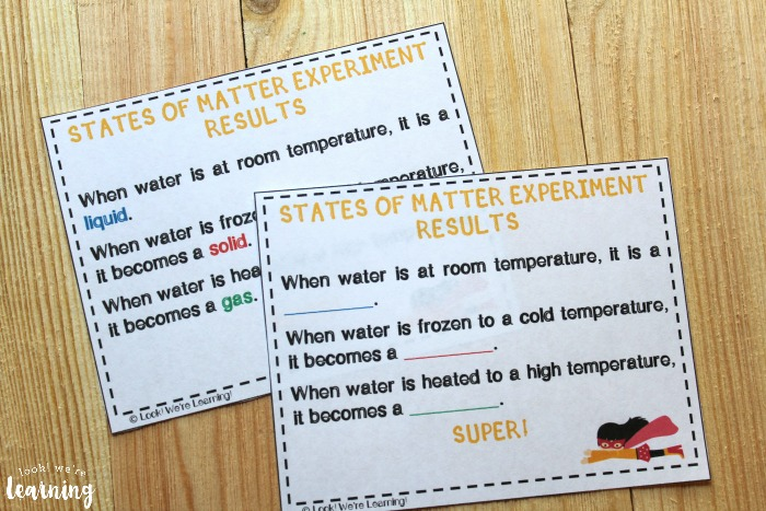 Superhero States of Matter for Second Graders Lesson