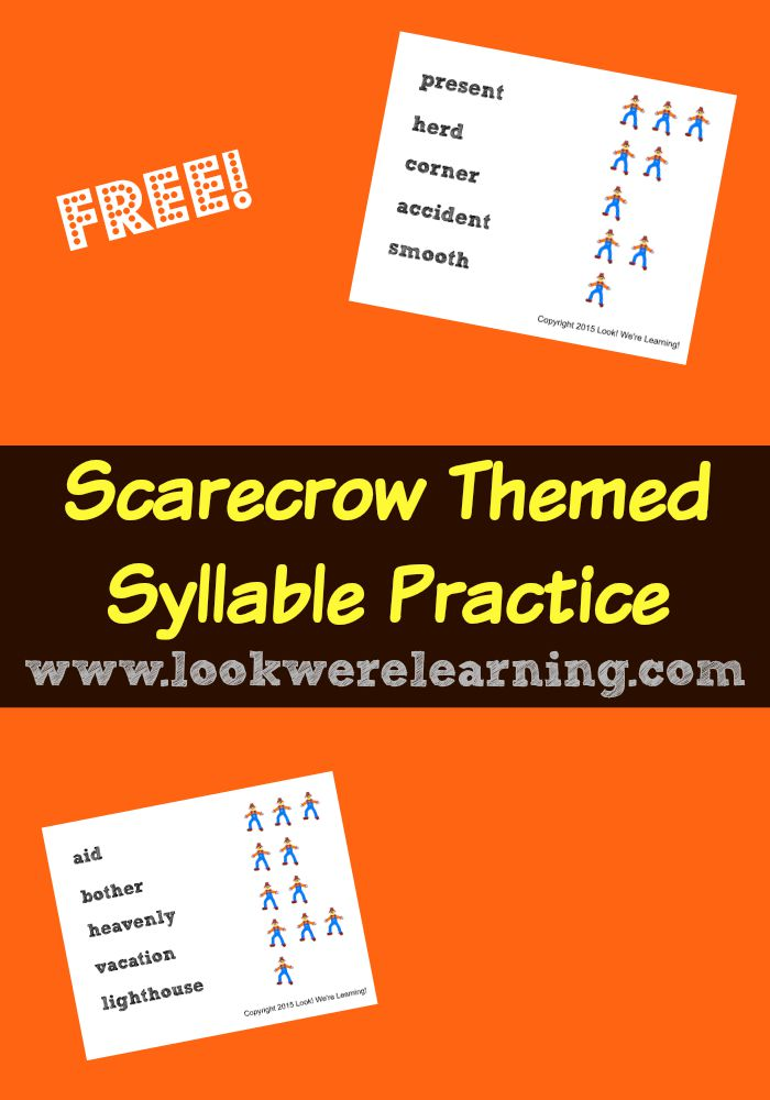 Scarecrow Syllables for Second Graders - Look! We're Learning!