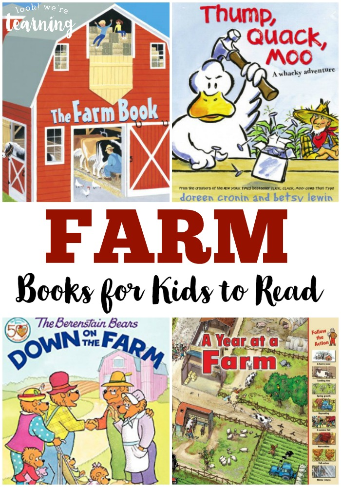 These fun farm books for kids are perfect for reading about farms, learning about farm animals, or doing a farm unit study!