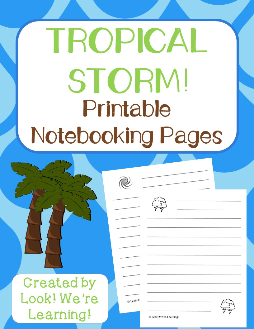 Tropical Storm Notebooking Pages