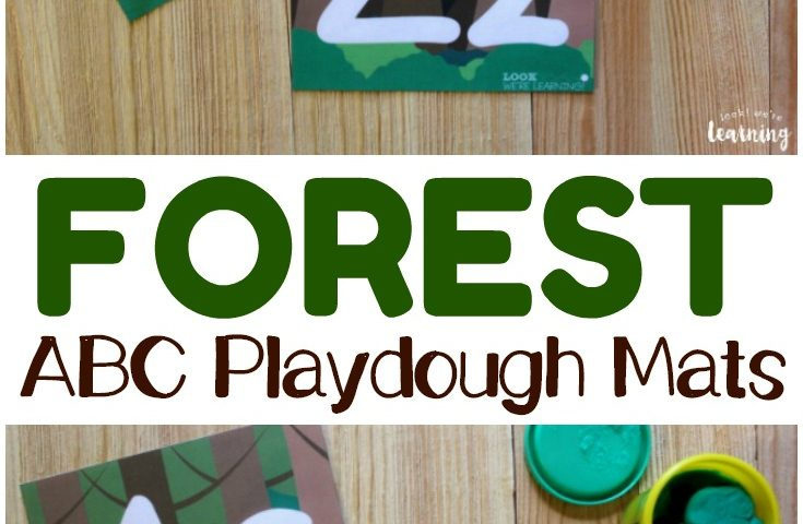 Preschool Playdough Mats: Forest Playdough Alphabet Mats