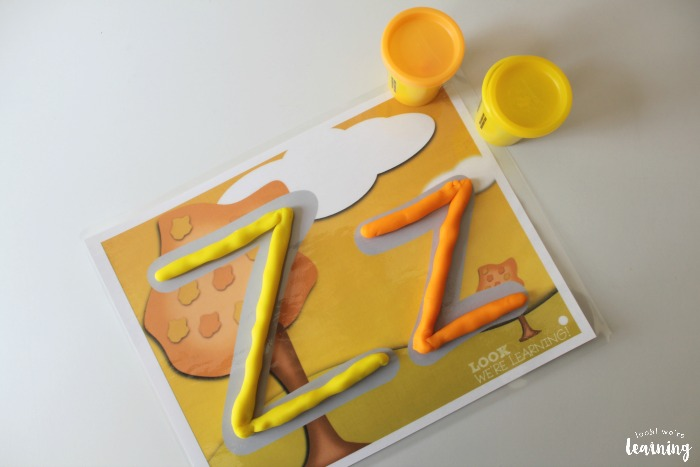 Fall Alphabet Playdough Mats for Kids