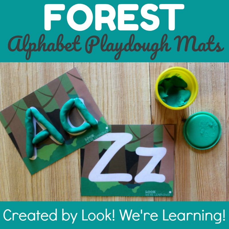 Forest Alphabet Literacy Mats