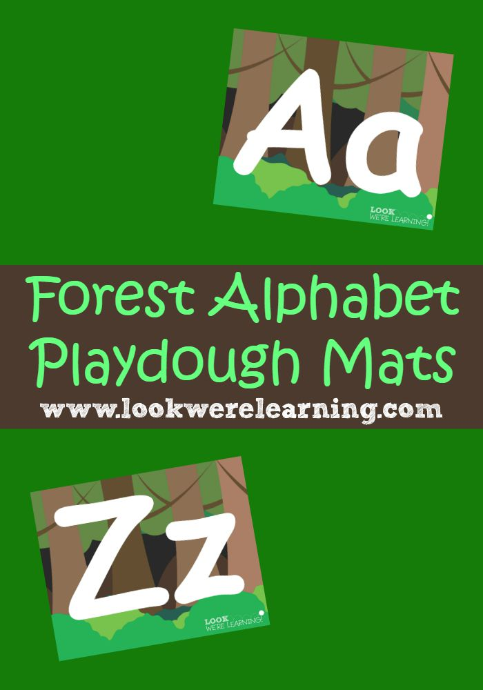 Forest Alphabet Playdough Mats - Look! We're Learning!