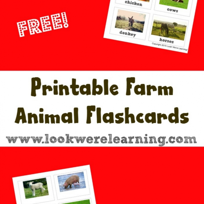 Free Printable Flashcards Farm Animal Flashcards - Look! We're Learning!