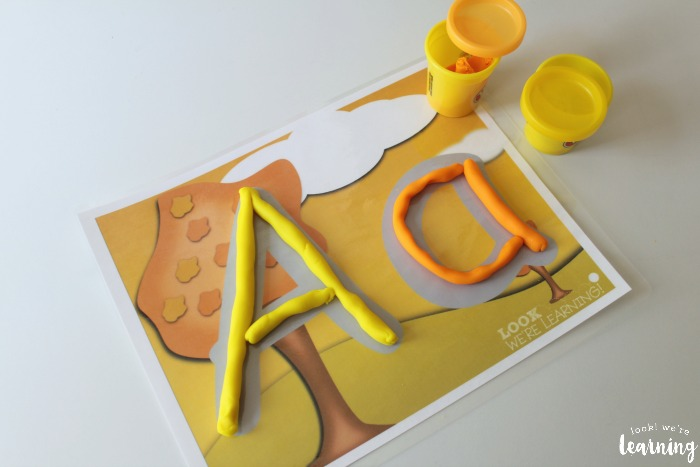 Printable Fall Alphabet Playdough Mats