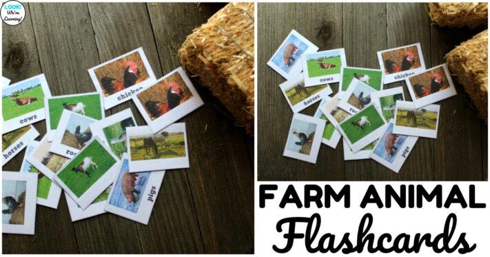 Printable Farm Animal Flashcards for Kids