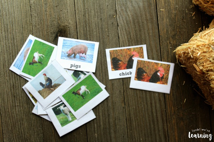 Printable Farm Animal Flashcards for Kids