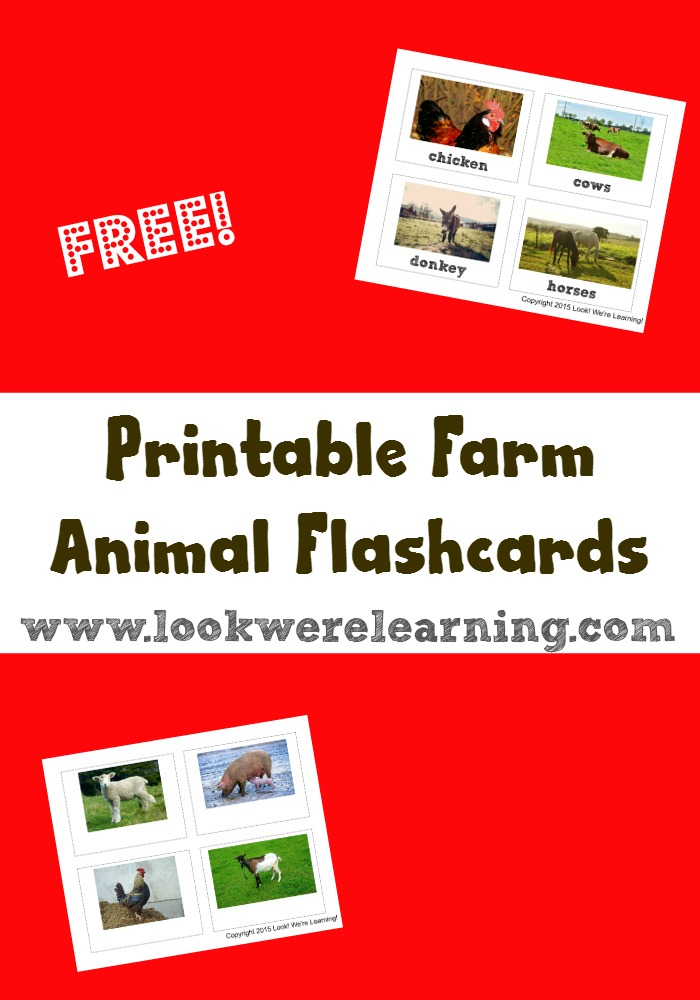 Printable Farm Animal Flashcards - Look! We're Learning!