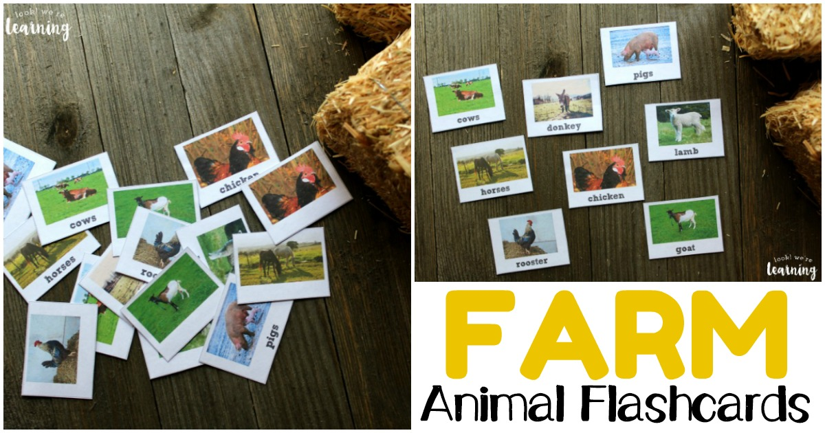Printable Farm Animal Identification Flashcards for Children