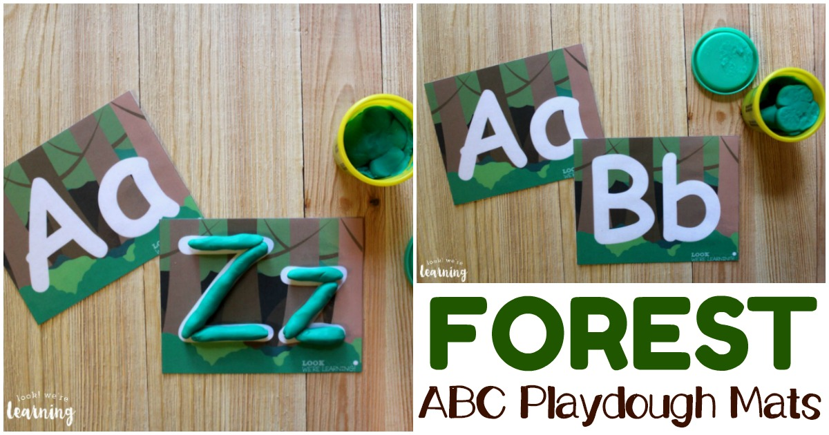 Printable Forest ABC Playdough Mats for Kids