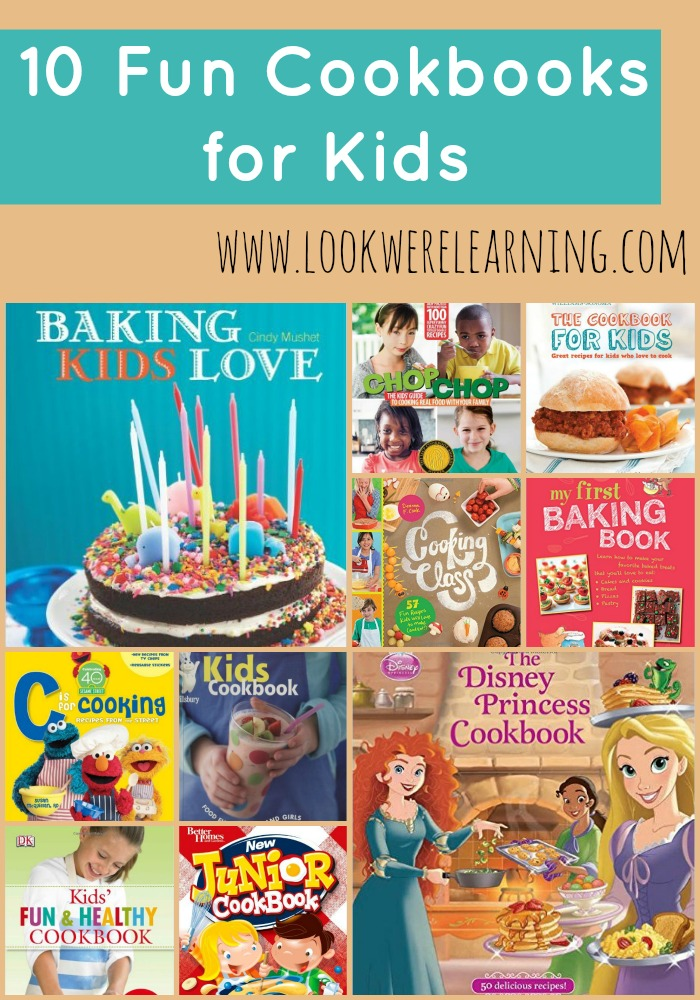 10 Fun Cookbooks for Kids #LaughLearnLinkup