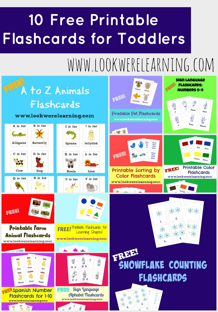 10 Free Printable Flashcards for Toddlers - Look! We're Learning!