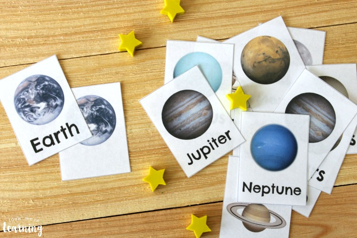Free Printable Solar System Flashcards for Kids