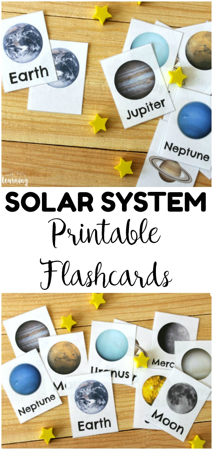 Get to know our galactic neighbors with these printable solar system flashcards! Perfect for a space unit!