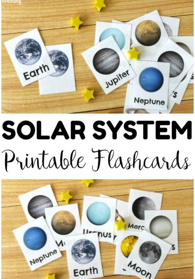 Help kids learn about the members of our solar system with these printable solar system flashcards! These would be wonderful for a space unit study!