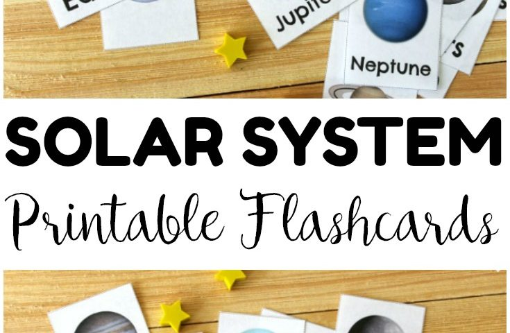 Free Printable Flashcards: Solar System Flashcards